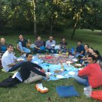 Yannick Landais research group picnic in july 2017