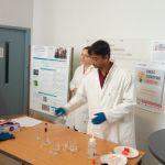 """Claire and Suman at the """"Fête de la Science"""" 2017 at ISM (University of Bordeaux)"""